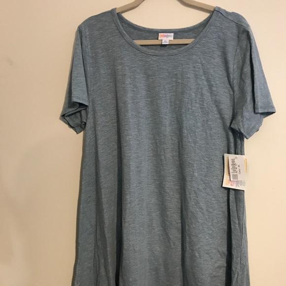 6e98d4451863 LuLaRoe Dresses | Bnwt Xl Carly Blue W White Microstripe | Poshmark
